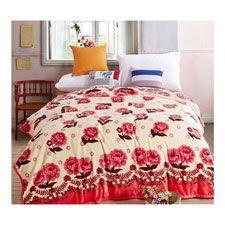 mantas polares con estampados de flores