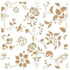 stencil de flores