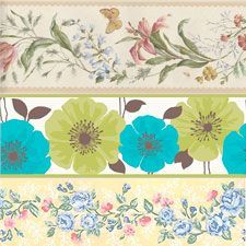 Cenefas adhesivas de flores