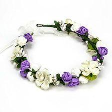 Coronitas con flores