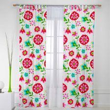 cortinas con flores