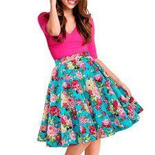 faldas de flores