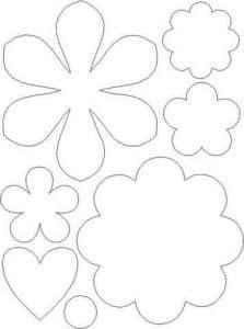fieltro patrones flores
