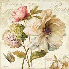 láminas vintage de flores