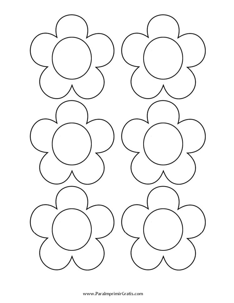 Moldes de Flores para Goma Eva | DEFLORESONLINE.COM