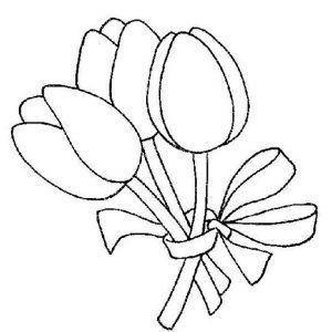 ramillete de tulipanes