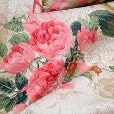 telas con flores