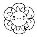 dibujo de florecilla infantil para colorear