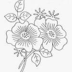 flores bordar