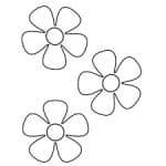 flores para colorear pequeñas