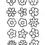 flores para dibujar pequeñas
