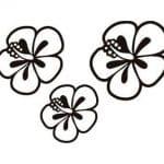 dibujo flores hawaianas