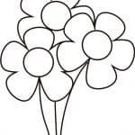 dibujo de flores pequeñas para colorear