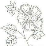 bonito patrón de flor para bordar