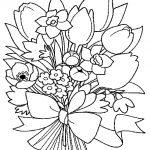 colorear ramo de flores de novia