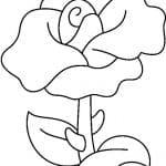 dibujo de rosa con espinas