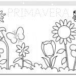 tablero de flores de primavera para colorear