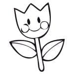 tulipan infantil para imprimir