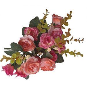 Ramos artificiales 18 cabeza de rosas