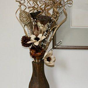 Jarrón con flores artificiales secas 75 cm de altura