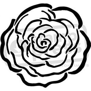 Stencil estarcir flor rosa