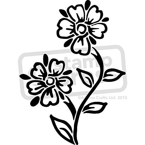 Stencil de pared florecitas