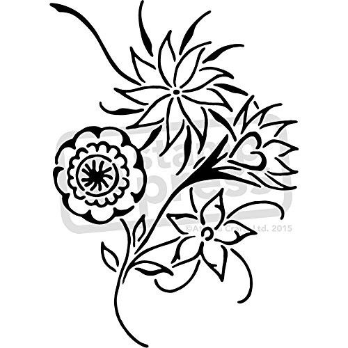 Estarcir A5 flores silvestres