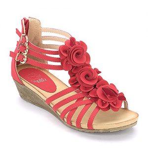 Sandalias Alexis Leroy flores rojas