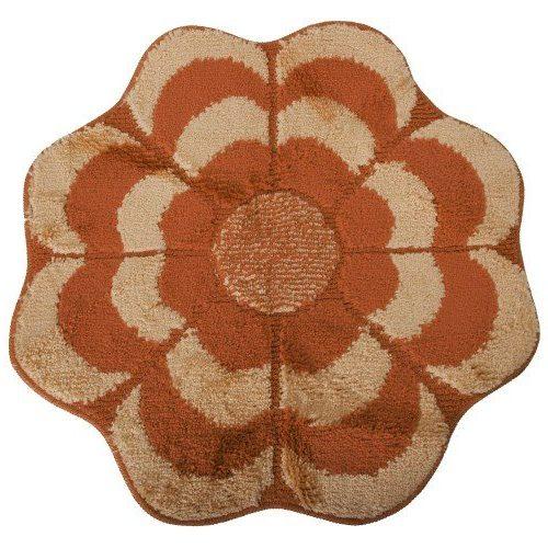 Alfombra con forma de flor antideslizante