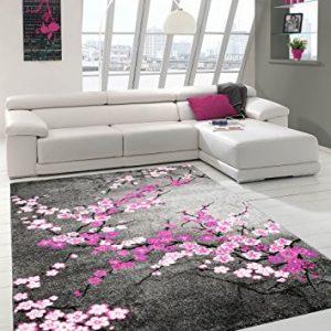 Alfombra contemporánea de flores
