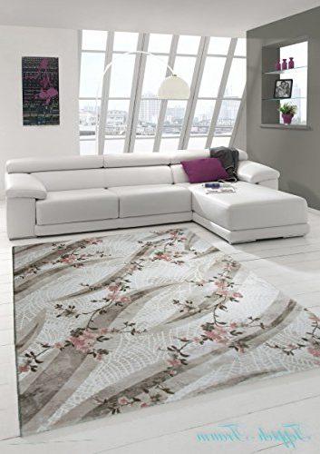 Alfombra moderna de lana, Color crema beige