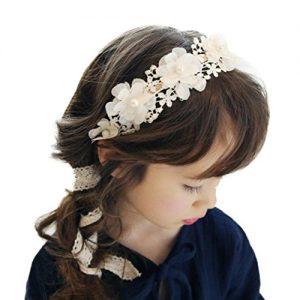 Diadema para niña perla blanca