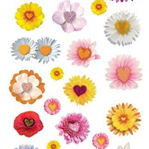 Pegatinas decorativas con flores
