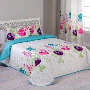 Colcha Bouti Garden Reversible para camas de 150 cm