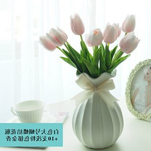 Centro de mesa con tulipanes artificiales