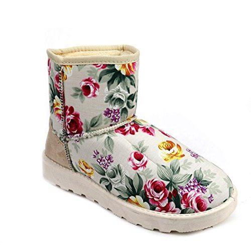 Botas de tobillo con flores