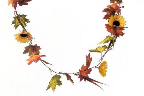 Guirnalda decorativa con flores