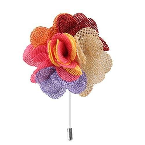 Broche Alfiler multicolor de Flor Peonía