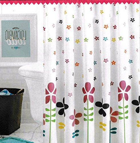 Cortina de baño florecitas 140x180 cm