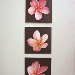Tablas tríptico pétalos rosas
