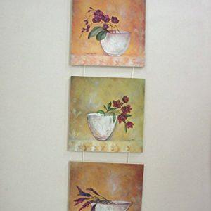 CUADRO TABLA TRIPTICO MACETAS con Flores