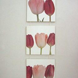 Tabla tríptico de tulipanes