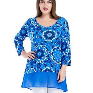 Blusa vestido para mujer con estampado floral, tallas grandes