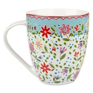 Taza Churchill de flores