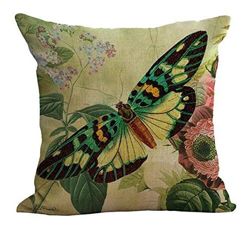 Funda mariposa con flores