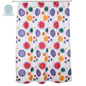 Cortina de baño de flores 180x200 cm