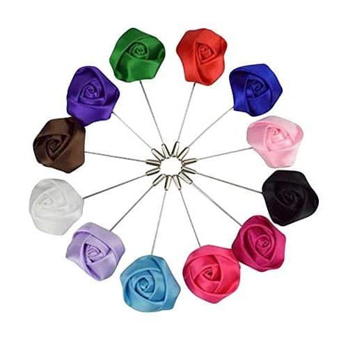 10 Broches Imperdibles De Metal, Multicolor