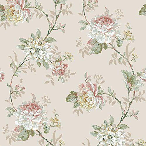 DansLemur 622-2 con flor rameada, color beige