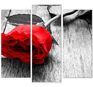 Cuadro DekoArte Rosa Roja