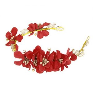 Diadema de flores rojas